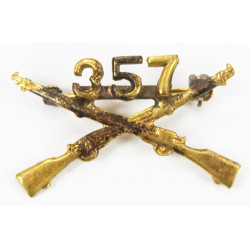 Insignia, Collar, Officer, 357th IR, 90th Inf. Div.