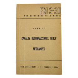 Field Manual 2-20, Cavalry Reconnaissance Troop, 1944