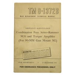 Technical Manual TM 9-1372B, Combination Fuze Setter-Rammer M20, 1943