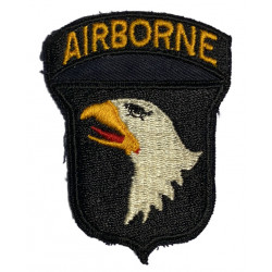 Patch, shoulder, 101st Airborne Division, Type 10 variant, 1 pce black twill