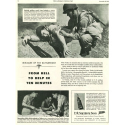 Ad, Squibb & Sons, Morphine Syrettes, 1943