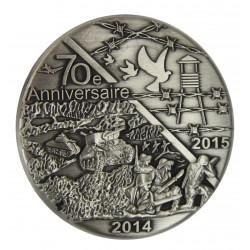 Médaille commémorative, 70e anniversaire du débarquement et de la libération des camps (2014-2015)