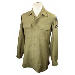 Shirt, Flannel, OD, Coat Style, 29th ID