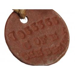 Plaques d'identité britanniques, Dog Tags, Robert Shebbeare (officier)