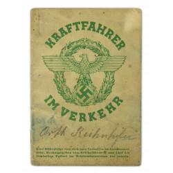 Booklet, Kraftfahrer im Verkehr, 1937