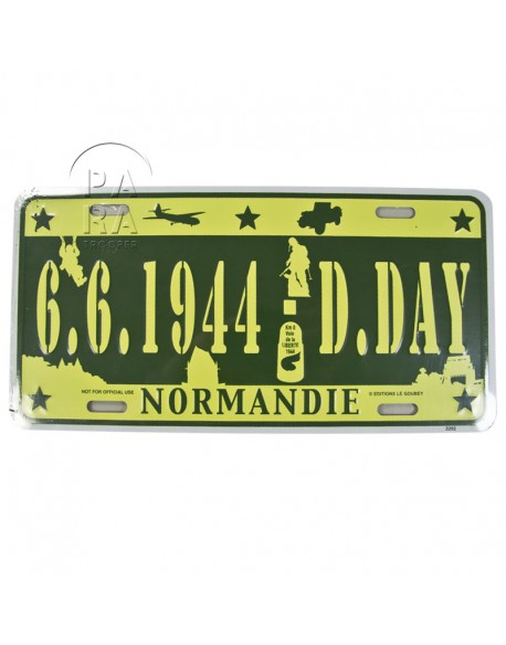 D-Day vehicle plaque
