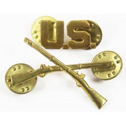 Paire d'insignes de col officier, Infanterie