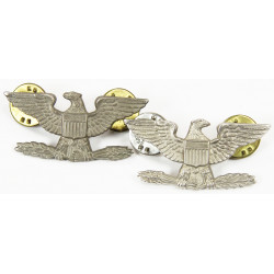Colonel rank insignia, pair, Sterling
