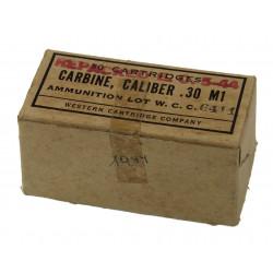 Box, cartridges, calib. 30 M1, Western Cartridge Company, 1944