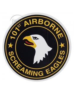 Autocollant 101e airborne, rond