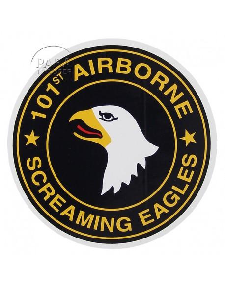 Autocollant 101e Airborne Div., rond