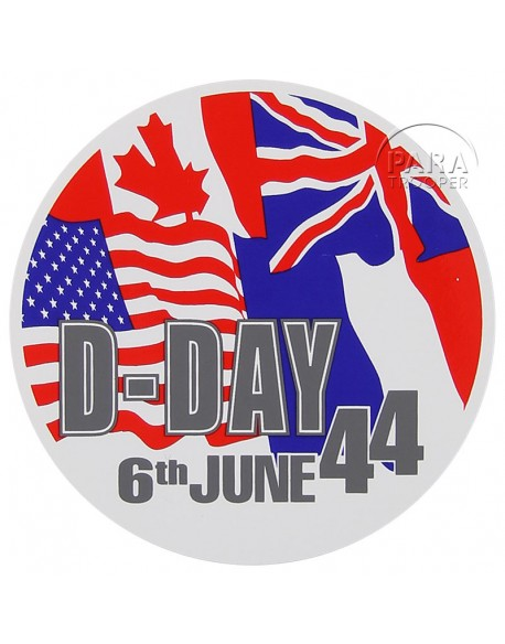 Autocollant D-Day 1944 drapeaux