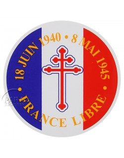 Sticker, France Libre, round