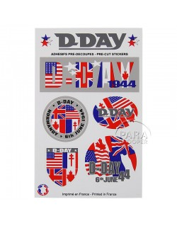 Stickers, D-Day, pack