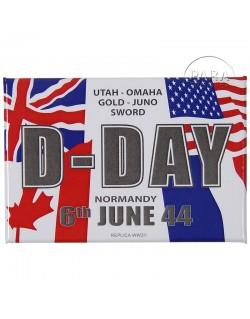 Magnet D-Day 1944 drapeaux