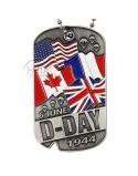 Plaque d'identité D-Day drapeaux