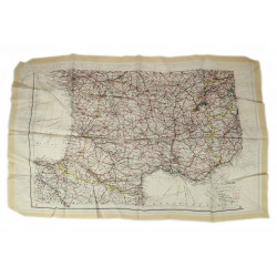 Map, Silk, Escape, MI9, Southern France