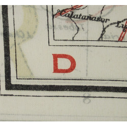 Map, Silk, Escape, MI9, Southern France