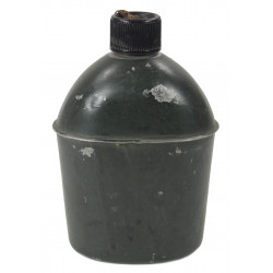 Canteen, OD green camouflage, US