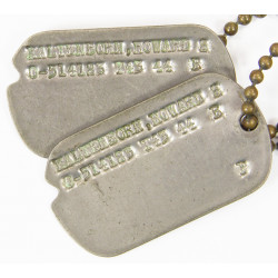 Dog Tags, Howard Kaltenborn, Officer, 43-44