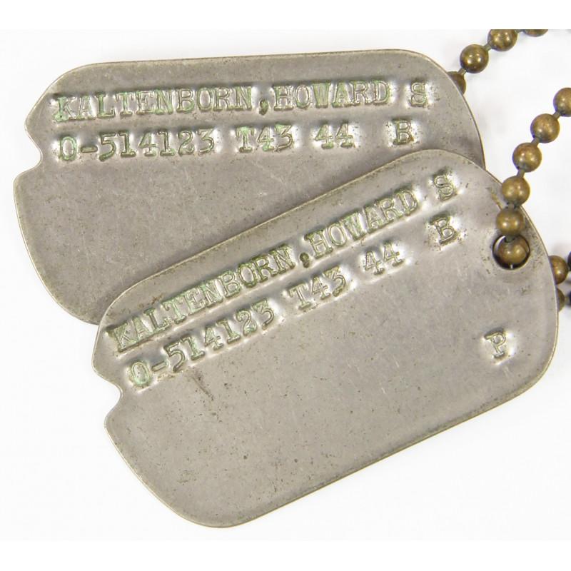 Plaques d'identité, Dog Tags, Howard Kaltenborn, Officier, 43-44