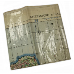 Map, War Office, Utah & Omaha Beach, Plastic-coated,1943