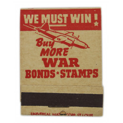 Matchbook, We must win! Buy More WAR Bonds-Stamps