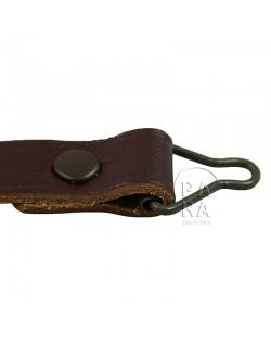 Jugulaire en cuir pour sous-casque (liner), luxe
