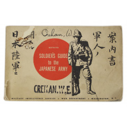Booklet, Soldier's Guide to the Japanese Army, ID