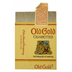Pack of cigarettes, Old Gold, Empty