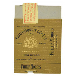 Pack of cigarettes, Philip Morris, Empty