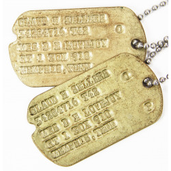Dog Tags, 1st type Monel, Claud H. Sellers, 1942