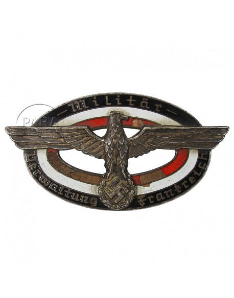Badge, Breast, Military Administration, France