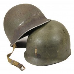Helmet, USM1, from Saint-Lô, Normandy