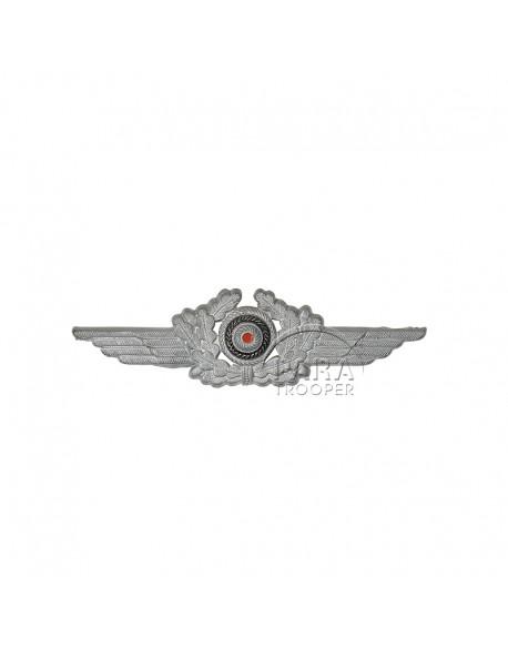 Insigne de casquette Luftwaffe, métal