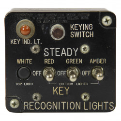 Recognition Light Key Switch Box, Aircraft, USAAF
