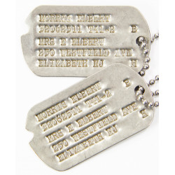 Dog Tags, Elbert Morris, Jewish