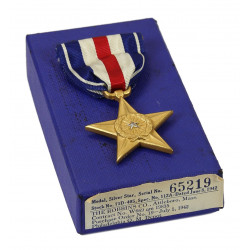 Medal, Silver Star, Numbered 65219, 1942