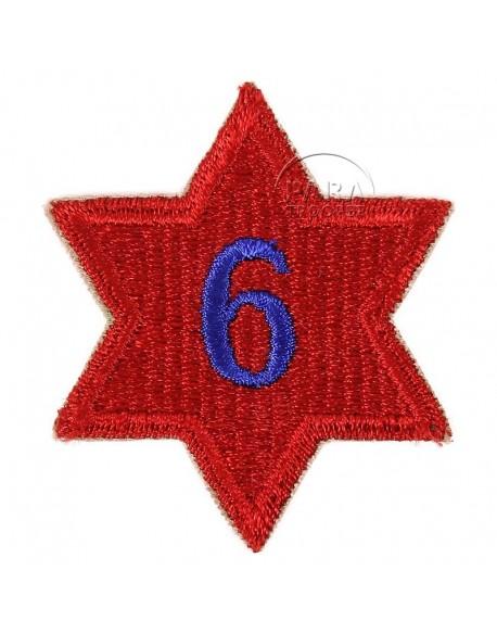 Insigne 6e Division d'Infanterie, numéroté