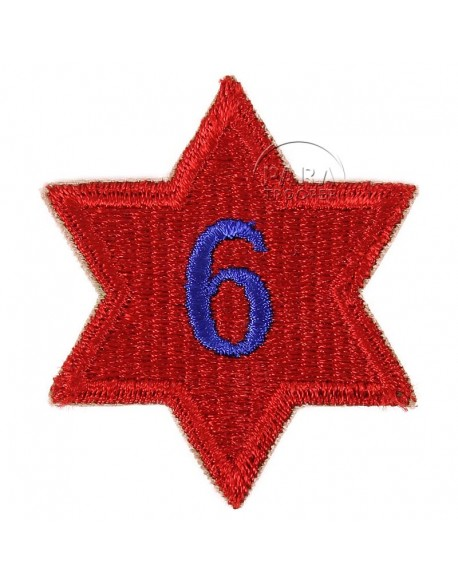 Patch, 6th Infantry Division, numbered