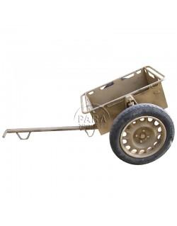 Remorque à munitions, avec brancard pour attelage