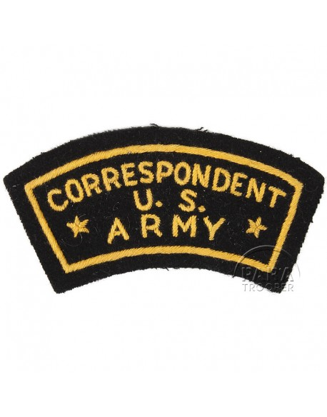 Patch, US Army Correspondent