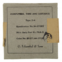 Computer, Time and Distance, Type D-4, 1944